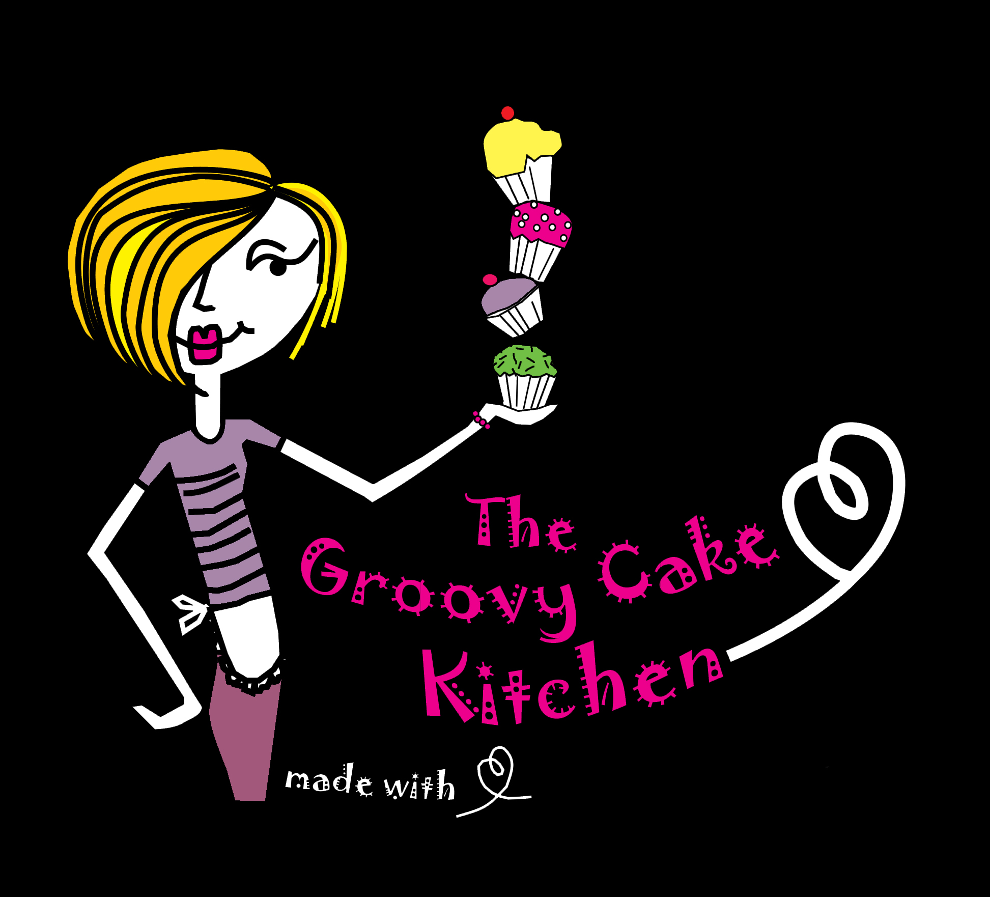The Groovy Cake Kitchen | www.groovycakes.co.nz Logo